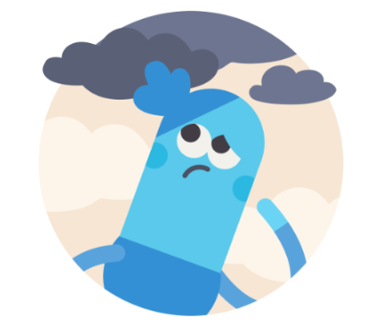 headspace anxiety illustration clouds moody stress