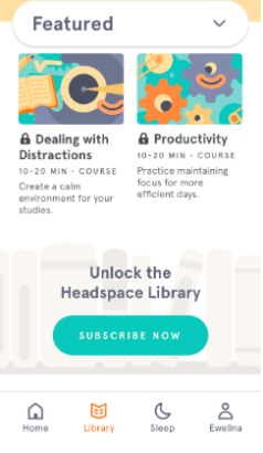 headspace unlock the library